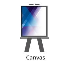 Produkt drukowany jest na materiale CANVAS. Jest to bawełniane płótno stosowane najczęściej do reprodukcji obrazów oraz innych aplikacji scenograficznych i wystawowych. Format własny Maksymalna szerokość rolki dla tego materiału to 120 cm. Jednostronnie kolorowe – solwent (4+0 CMYK) Zadruk jednostronny. Wysokiej jakości odwzorowanie kolorystyczne w zakresie techniki druku solwentowego.
